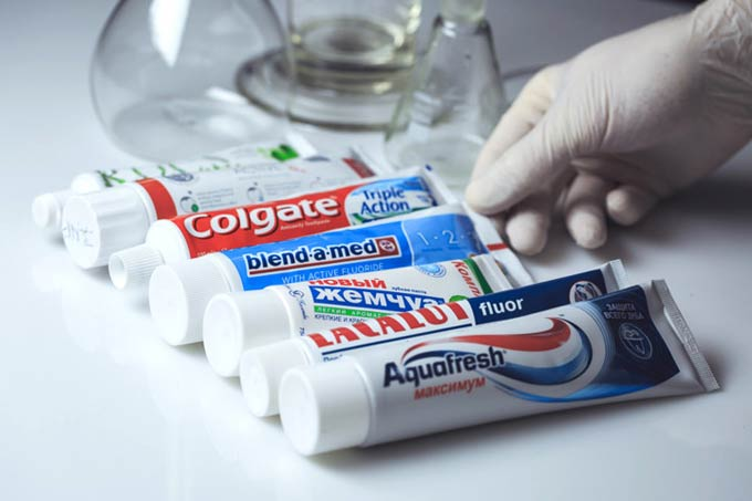 Variety of toothpastes