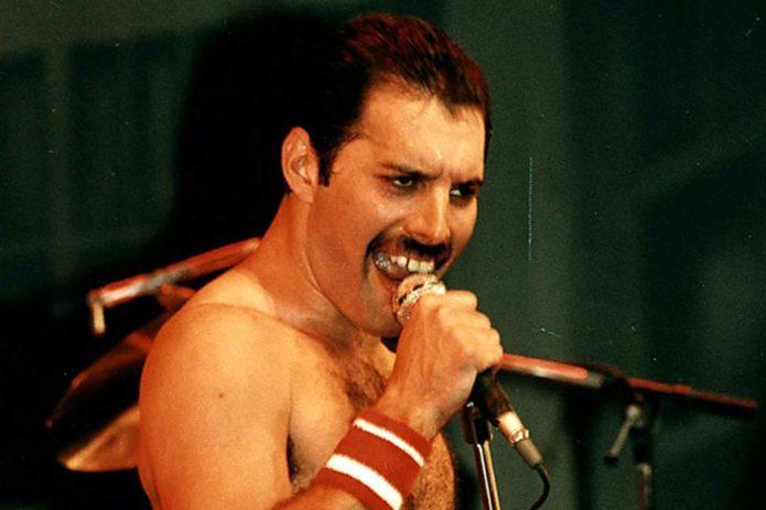 Freddie Mercury sings